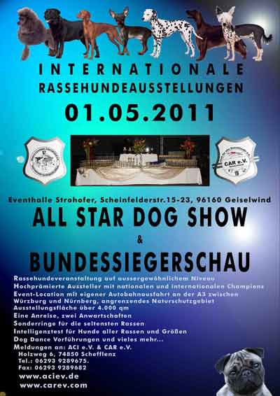 Rassehundeausstellungen All Star Dog Show & Bundessiegerschau in Geiselwind 01.05.2011
