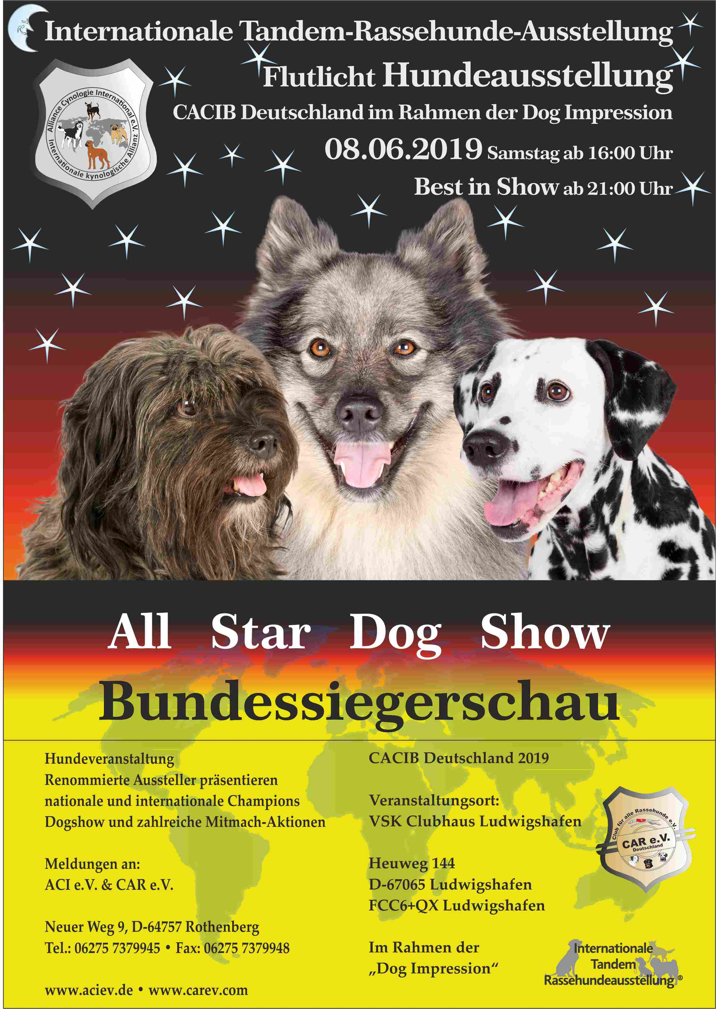 All Star Dog Show und Bundessiegerschau 08.06.2019