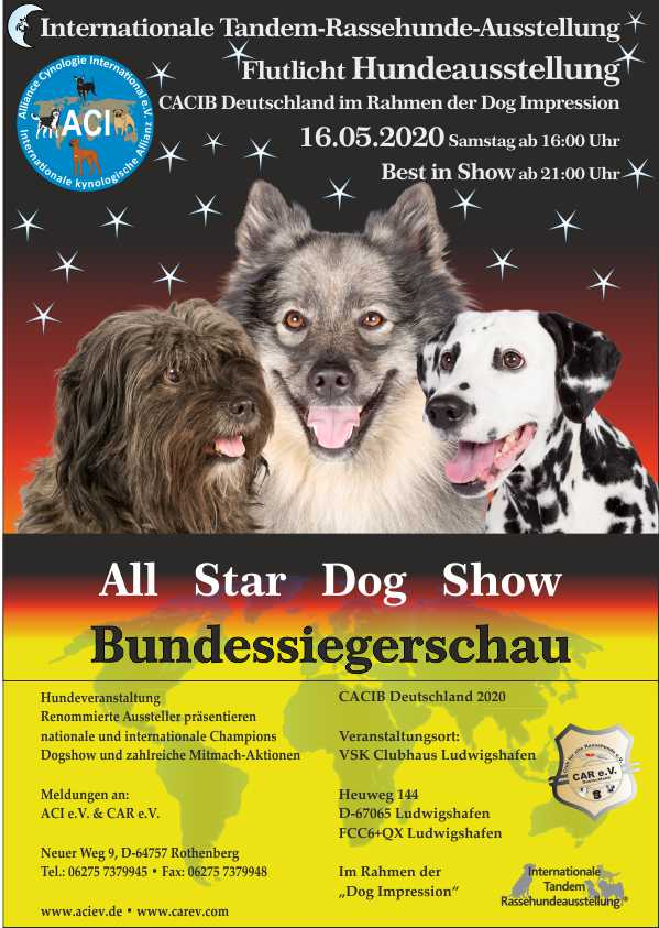 All Star Dog Show & Bundessiegerschau 2020